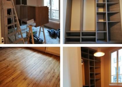 Rénovation et création d'une chambre et d'un dressing