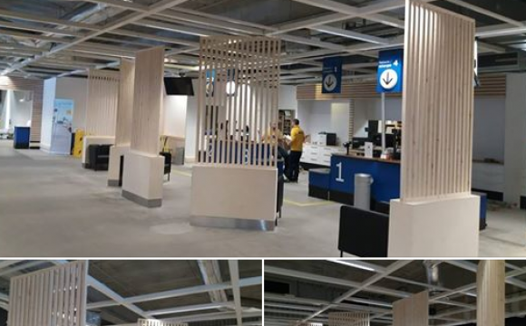 Pose de claustra sur Ikea Grenoble